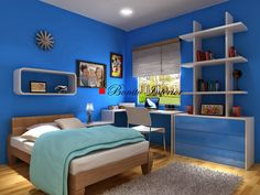 55 Simple Bedroom Decorations Blue Paint Colors (Minimalist, Classic And Modern) Large Bedroom, Blue Bedroom, Bedroom Decor, Bedroom Ideas, Blue Paint Colors, Large Beds, Blue Rooms, Luxurious Bedrooms, Room Inspiration