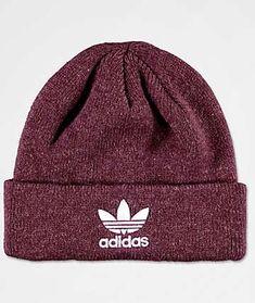 3a3980d2dffed adidas Original Trefoil Burgundy Beanie Adidas Hat