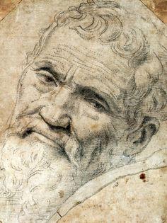 Portrait of Michelangelo - 1550 Daniell Ricciarelli da Volterra - Renaissance Michael Angelo, Renaissance Kunst, High Renaissance, Renaissance Artists, Caravaggio, Art Postal, Italian Sculptors, Cleveland Museum Of Art, Western Art