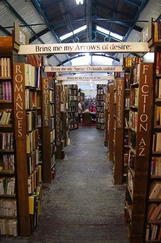 Barter Books, Alnwick, Northumbria, England...near Alnwick Castle, the castle used for filming Hogwarts in Harry Potter.
