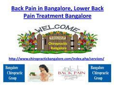 Back Pain in Bangalore, Lower Back Pain Treatment Bangalore