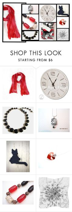 """""""Seeing Red"""" by fibernique ❤ liked on Polyvore featuring vintage"""