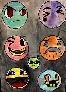 Different colors and facial features make each group of faces so ...    Unique and expressive!                Although your average emoji ...