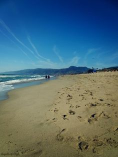 relaxing at Zuma Beach, Malibu