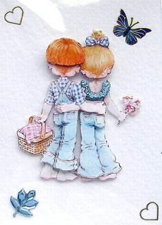 Hand Crafted 3D Decoupage Card Picnic Date Blank by SunnyCrystals