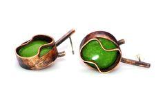 earrings. copper, beads. Letitia Pintilie, 2014.