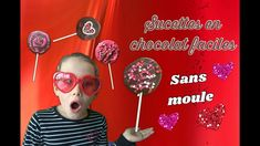 SUCETTES EN CHOCOLAT FACILES ET SANS MOULE! - YouTube Valentines Day, Movie Posters, Popsicles, Mussels, Chocolates, Children, Valentine's Day Diy, Film Poster, Billboard