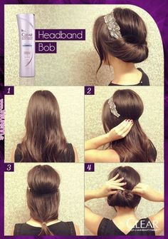 Gatsby hair inspiration how to Headband Hairstyles, Pretty Hairstyles, Easy Hairstyles, Wedding Hairstyles, Headband Updo, Hair Styles Headband, Birthday Hairstyles, 1920s Headband, Hairstyles Pictures