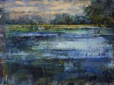 Curt Butler Glass Lagoon 36 x 48 Oil and Encaustic