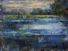 Curt Butler Glass Lagoon 36 x 48 Oil and Encaustic