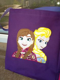 Frozen Tote Bag by SprinkleOfCreativity on Etsy  #frozen #disney #ana #elsa #snowqueen #birthday #party #princess #princessparty #partyhat #birthdayhat #birthdaytote #giftbags #frozenparty