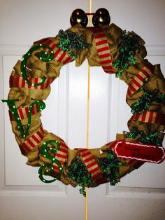 Holiday work wreath