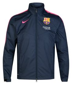 Barcelona Squad Rain Jacket Navy FC Barcelona Official Merchandise Available at www.itsmatchday.com