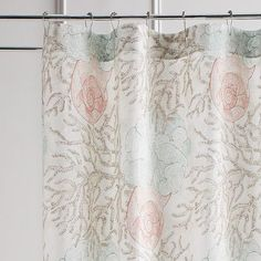 Dreaming of a beach vacation? Our Coral Reef Shower Curtain will bring the beauty of the coast to your bathroom, thanks to its coral and aqua print on crisp cotton with colorful sea-life motifs.