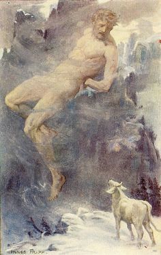 """Innes Fripp,Io and Prometheus. Illustration from """"Tales Of The Gods And Heroes"""""""