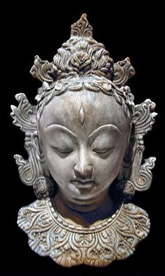 Bali Hindu Shiva Face Mask sculpture wall plaque reproduction made of cast stone and colored in antique stone finish. For sale by Ancient Sculpture Gallery. Sculpture Museum, Stone Sculpture, Foam Carving, Ancient Persian, Tinta China, Cast Stone, Indian Art, Art Reproductions, 5 D