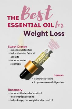 Each of these essential oils is renowned in traditional medicine and aromatherapy for boosting metabolism and toning up digestion. Their energizing fragrance gives you the energy you need to get going. The Best Essential Oils for Weight Loss Essential Oils Guide, Essential Oil Uses, Pure Essential, Essential Oil Diffuser Blends, Aromatherapy Oils, Living Oils, Doterra Essential Oils, Essential Oil For Digestion, Weight Loss