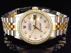 Rolex Datejust 2 Tone 36MM 18k Stainless Steel White MOP Diamond Watch 2.5 Ct #Rolex #LuxuryDressStyles