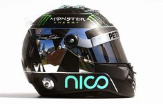 The helmet of Nico Rosberg, Mercedes AMG Photo by XPB Images on March 2014 at Australian GP. Racing Helmets, F1 Racing, Racing Team, Nico Rosberg, Series Formula, Formula One, Grand Prix, Monaco, Sport Cars