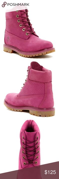 Pink timberlands  New with tags! Comfy and super cute. Timberland Shoes