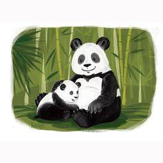 "Sylwia Filipczak on Instagram: ""Stronger together 🐼 Pandas family for Julia #kidsillustration #family #panda #animaldrawing #childrenillustration #animalprotection…"" Panda Painting, Panda Family, Animal Protection, Animal Drawings, Strong, Crafty, Artwork, Instagram, Pandas"