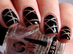 Cool Stripe Nail Designs, http://hative.com/cool-stripe-nail-designs/,
