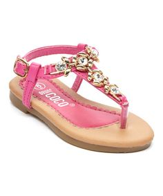 Another great find on #zulily! Pink Rhinestone Flower Sandal #zulilyfinds