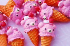 Hey, I found this really awesome Etsy listing at http://www.etsy.com/listing/157107136/3-pink-strawberry-rilakkuma-ice-cream