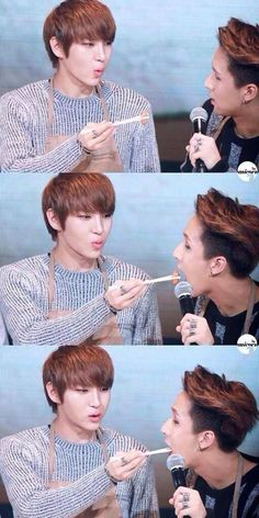 Leo feeding Ravi~ So cute ._. <3 *DEAD*: