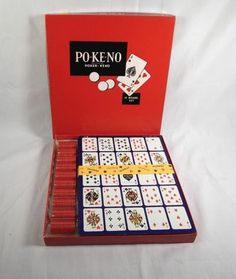 Po-Ke-No Poker Keno Vintage Game Pokeno Po Ke No Never Used US Playing Card Co