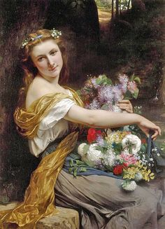 """Pierre-Auguste Cot (French, 1837–1883), """"Dionysia"""", 1870"""