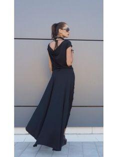 High Low Black Maxi Dress A03474 #Aakasha #black #party #shortsleeves #gorgeous #maxidress #party #elegant #stylish