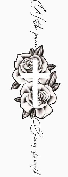 Dope Tattoos For Women, Cross Tattoos For Women, Rose Tattoos For Men, Sleeve Tattoos For Women, Cross Neck Tattoos, Cross Tattoo Men, Neck Tattoo For Men, Back Of Neck Tattoos For Women, Unique Cross Tattoos