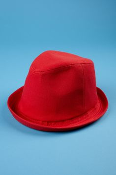San Diego Hat Company solid red fedora.