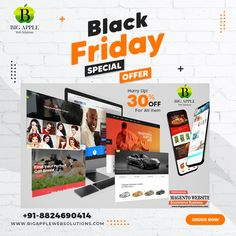 Best Black Friday Deals in Website Design & Web Development 2020. Get you business website in affordable cost. Outstanding website design can help you make a lasting impression. We guarantee a happy smile when you hire us for the job. Request a quote now. View Services. Result-Driven Strategies. Experienced Team. Highlights: Team Of Experienced Developers Available, Providing Custom Marketing Solutions. #bigapplewebsolutions #websitedesign #ecommecewebsite #ecommercedesign Web Design Agency, Web Design Company, Design Web, Packaging Company, Packaging Design, Apple Web, Professional Web Design, Corporate Style, Wordpress Website Design