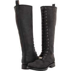 """FRYE VERONICA LACE TALL  The circumference on these is the same as the veronica slouch wide-calf (15.5""""), and the laces might make that even more adjustable. This might be a good option for those who need a bit more calf-area in their boots!"""