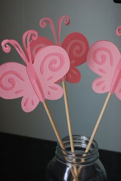 Butterfly Centerpieces 9 Pieces First Birthday by GiggleBees, $15.00