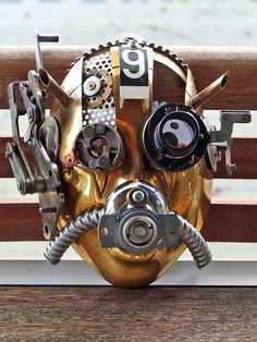 #Steampunk #Gasmask Steampunk Cosplay, Steampunk Mask, Steampunk Couture, Steampunk Fashion, Steampunk Kunst, Steampunk Accessories, Dieselpunk, Headgear, Face Art