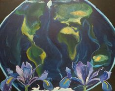 "Iris Earth- 20x16"" by SG Criswell"