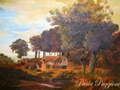 """copy of a landscape   olio on canvas panel 30""""x40"""""""