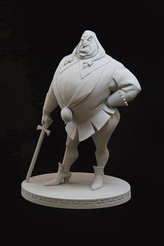 Ratcliffe maquette by Kent Melton. Zbrush, Character Concept, Character Art, Poster Disney, Traditional Sculptures, 3d Art, Statues, Disney Concept Art, 3d Prints