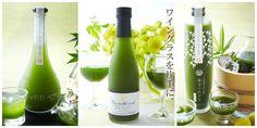 The green white wineis part ofa range ofmatcha-based alcoholic beverages which include chocolate liqueur, Japanese sake and umeshu plum wine.