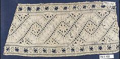 Fragment Date: 16th century Culture: Italian Medium: Linen, cutwork Dimensions: H. 9 x W. 4 inches (22.9 x 10.2 cm) Classification: Textiles-Laces Credit Line: Anonymous Gift, 1879 Accession Number: 79.1.102