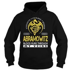 ABRAMOWITZ Blood Runs Through My Veins - Last Name, Surname TShirts