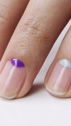 Pastel Pink Nails, Pink Nail Colors, Cute Pink Nails, Pink Nail Art, Funky Nails, Yellow Nails, Trendy Nails, Art Nails, Manicure Nail Designs