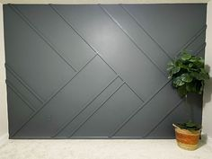 Give your wall some dramatic character with this easy to-do accent wall! Paint the wall I started by painting the wall and the baseboard with the color in… Removing Baseboards, Installing Wainscoting, Faux Brick, Board And Batten, Ship Lap Walls, Wall Treatments, Diy Wall, Wood Wall Decor, Textured Walls
