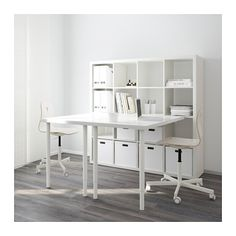 Create one home office for two using the white HISSMON table top