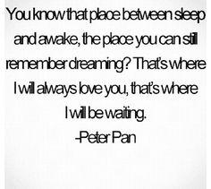 Aww Peter Pan...