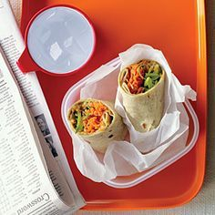 Spicy Peanut, Carrot, and Snap Pea Wraps Recipe