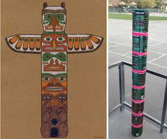 Art Projects for Kids: Native American Totem Pole Coloring Page